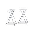 Lot de 2 tables hautes 105 cm pliantes + 2 housses bordeaux
