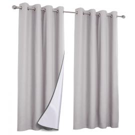Lot de 2 rideaux thermiques gris clair 135X240 CM