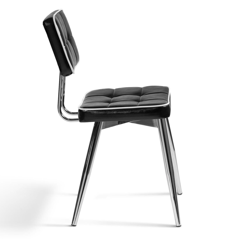 Lot de 4 chaises BOBY vintage noires et blanches IDMarket