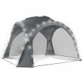 Tente dôme gris anthracite 3,5M avec LED