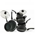 Batterie de cuisine 8 pcs pierre noir stone chef casserole poêle couvercle