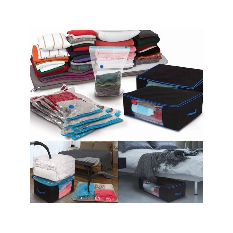 sacs de rangement sous vide sac housse de rangement sous vide voyage vacances sac rangement. Black Bedroom Furniture Sets. Home Design Ideas