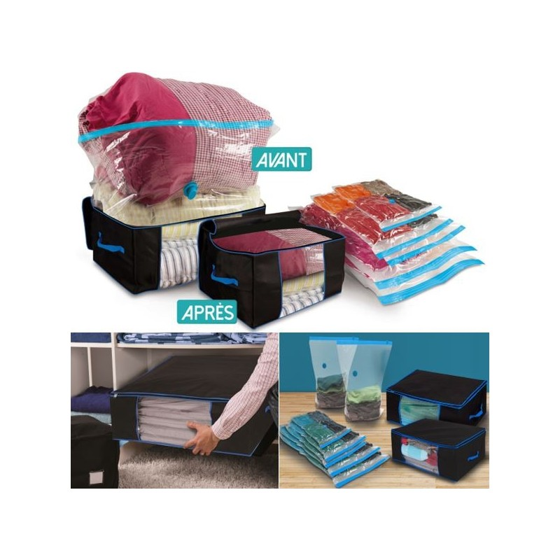 sac de rangement sous vide affordable housse pour vtements en nylon et xx cm with sac de. Black Bedroom Furniture Sets. Home Design Ideas