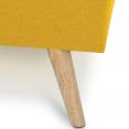 Lit double scandinave Oslo 140x190 cm tissu jaune curry