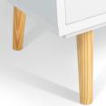 Bibliothèque étagère EMMIE scandinave bois blanc