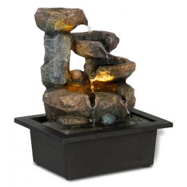 Fontaine zen aspect pierre avec led