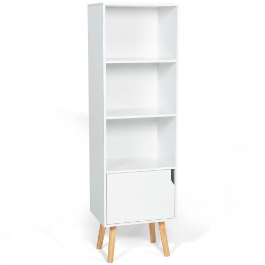 bibliotheque etagere emmie scandinave bois blanc