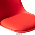 Lot de 2 tabourets de bar KARL design rouge