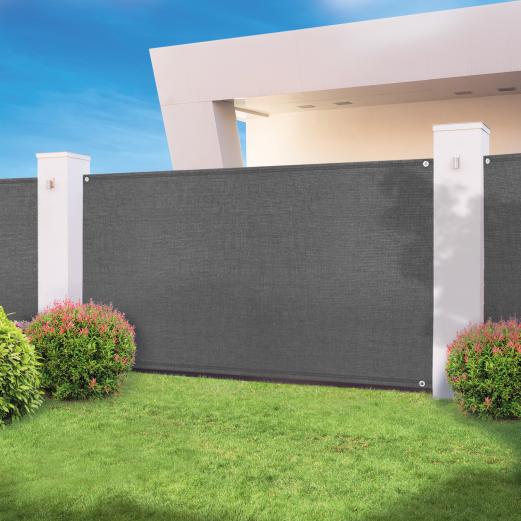 Brise vue haute densité gris 1,2 x 10 m 300 gr/m² qualité pro