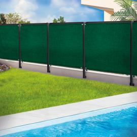 Brise vue renforcé 1 x 10 m vert 220 gr/m² luxe pro