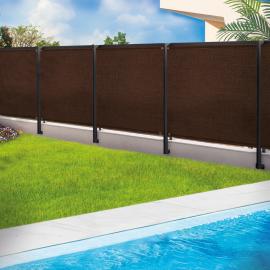 Brise vue renforcé 2 x 10 m marron 220 gr/m² luxe pro