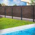 Brise vue renforcé 1,8 x 10 m taupe 220 gr/m² luxe pro