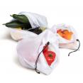 Lot de 10 sacs fruits et légumes réutilisables 3 tailles
