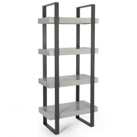 Etagère 4 niveaux PHOENIX bois gris
