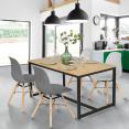 Table à manger DETROIT design industriel 120 CM
