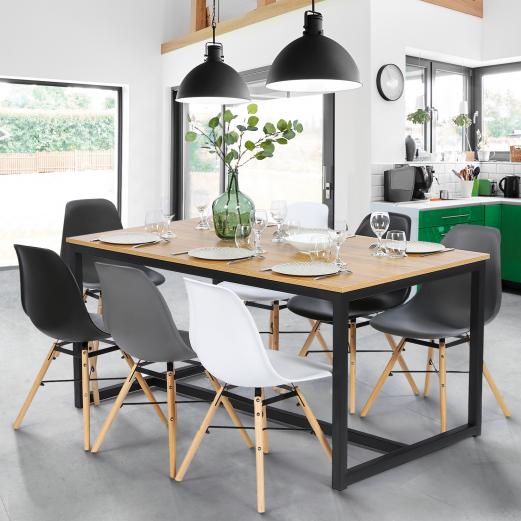 Table à manger DETROIT design industriel 180 CM