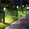 Lot de 2 lampes solaires LED 2 en 1 avec détecteur de mouvement