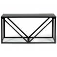 Range bûches en acier noir design