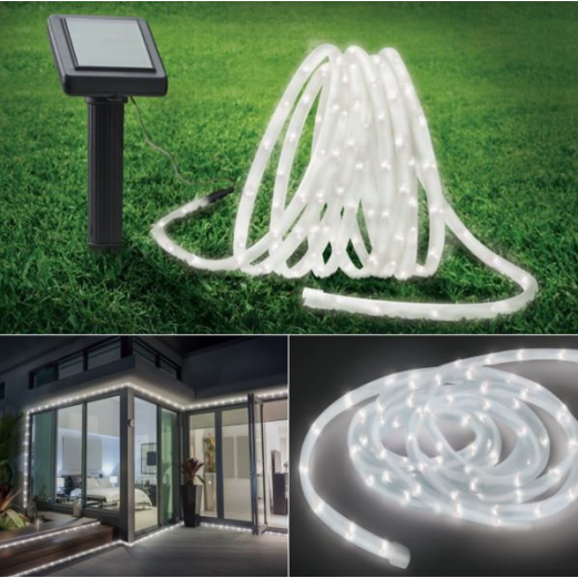 Cordon lumineux solaire 50 led blanches
