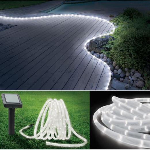 Cordon lumineux solaire 100 led blanches