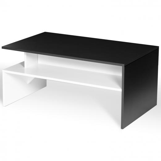 Table basse GABI blanche et noire multirangements