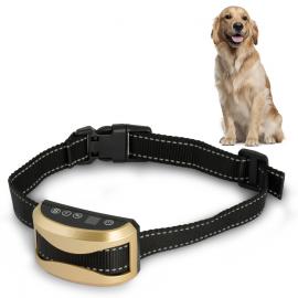 Collier anti aboiement pour chien son vibration choc 7 niveaux rechargeable