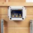 Porte automatique verrouillable pour poulailler avec capteur de luminosité et minuterie 22 x 33 cm