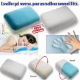 oreiller à mémoire de forme avec gel rafraîchissant coussin ergonomique double face