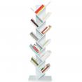 Etagère bibliothèque à livres forme d'abre 10 niveaux blanche