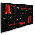 Panneau mural perforé en acier 120 x 60 cm porte-outils avec 17 accessoires