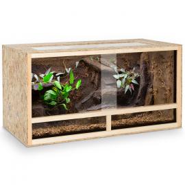 Terrarium en bois OSB pour reptiles et batraciens aérations latérales 115 cm