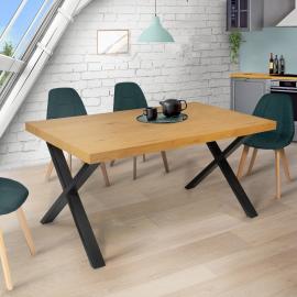 Table à manger ALMA design industriel 160 CM