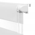 Store enrouleur zébré jour nuit 50 x 150 cm blanc