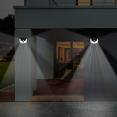 Lot de 2 lampes solaires 3D avec détecteur de mouvement spot 212 LED