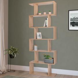 Etagère bibliothèque SOFIA forme S bois façon hêtre 189 cm