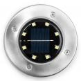 Lot de 10 disques solaires à LED spots de jardin à planter
