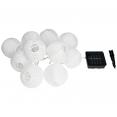 Guirlande solaire extérieure 280 cm 10 lanternes LED