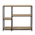 Etagère bibliothèque DETROIT design industriel avec étagères