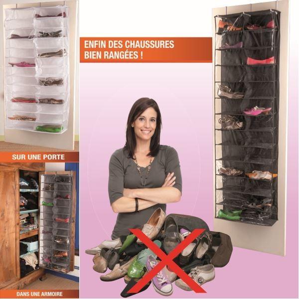 Housse range chaussures suspendre pour porte 52 - Range chaussures a suspendre ...