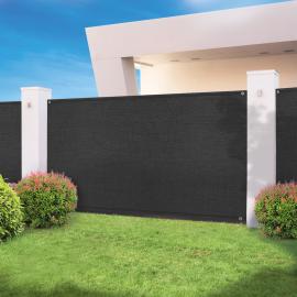 Brise vue haute densité noir 1,2 x 10 M 300 gr/m² qualité pro