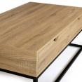 Table basse 2 tiroirs DETROIT design industriel