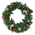 Couronne de Noël avec 20 LED blanc chaud