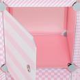 Meuble de rangement cube MERLIN enfant rose 7 cases