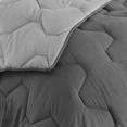Couette bicolore gris foncé et gris 140x200 cm 300 gr