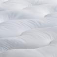 Couette blanche 400 gsm anti-acariens 220x240 cm motif vague