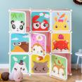 Meuble de rangement cube enfant animaux 9 cases
