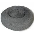 Coussin rond pour chat 60 CM panier gris anthracite ultra doux