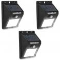 Lot de 3 appliques 30 LED solaires murales avec sensor