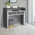 Bureau extensible bois blanc et gris