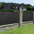 Brise vue renforcé 1,2 x 10 M noir 220 gr/m² luxe pro